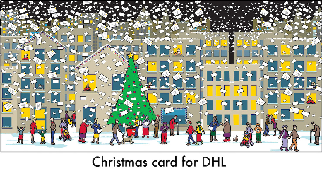 Christmas cards - Peter Bellingham: Illustration and cartoons